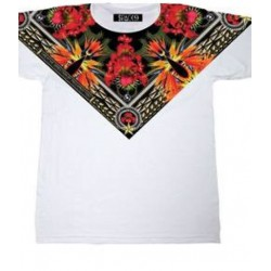 CAMISETA CON PRINT DIGITAL 'CUELLO PICO'