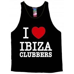 CAMISETA DE TIRANTES 'I LOVE IBIZA CLUBBERS'