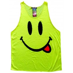 CAMISETA DE TIRANTES FLUOR 'SMILEY'